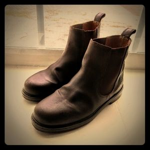 Aigle Slip-on Leather Chelsea Boots